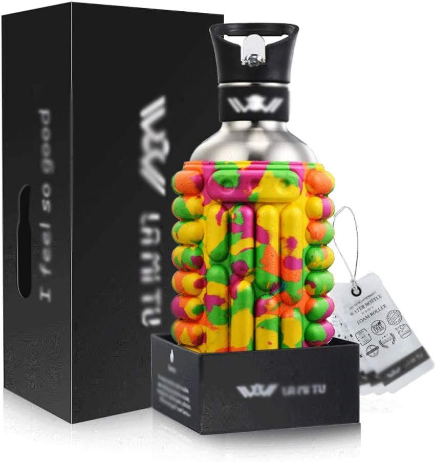 JIA Xing 1 litro de Acero Inoxidable Personalizada Deportes Caldera de Mano Caldera Caldera del Metal (7 Colores) Botella de Agua