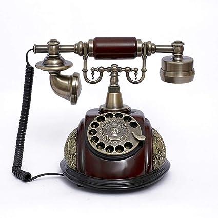 LKIHAH Teléfono Analógico con Cable En Un Elegante ...