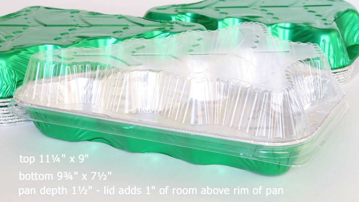 Disposable Aluminum Christmas Tree Cake Pan with Clear Snap on Lid #9501X (25) by Handi-Foil (Image #3)