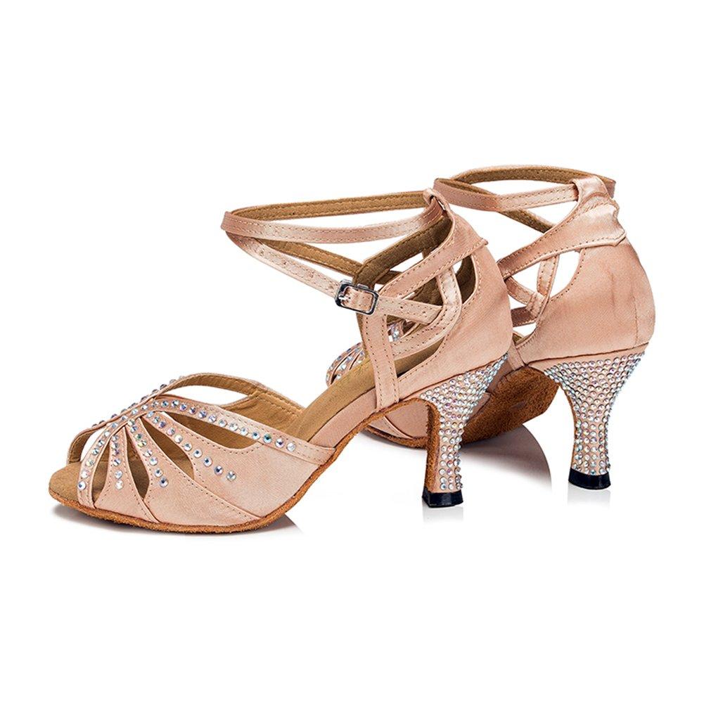 TTdancewear Women Rhinestone Ballroom Performance Dance Shoes Latin Salsa Performance Ballroom Dance Shoes B01EAPIORQ 5.5 B(M) US|Nude-3inch Heels 502e3c