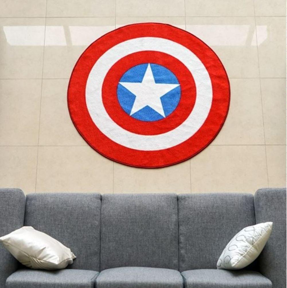 Brand-new Amazon.com: Marvel Captain America Shield Round Rug (52in  YW03
