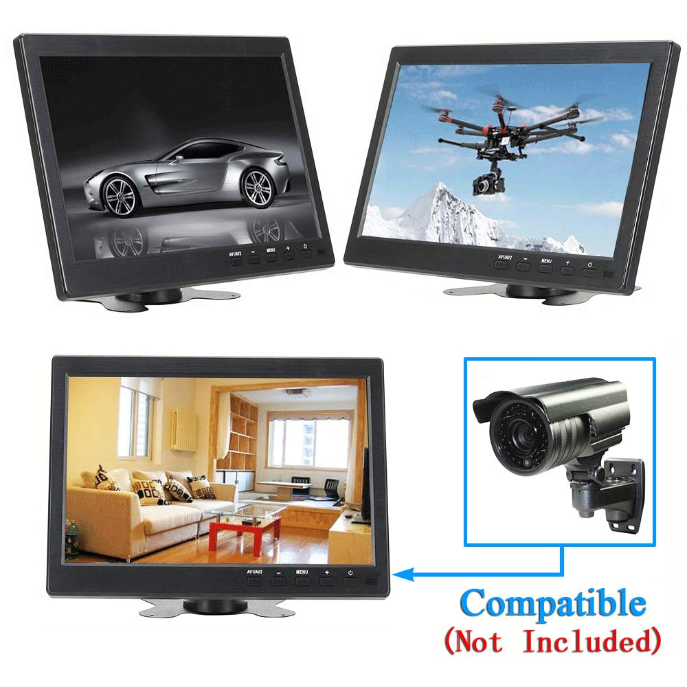 ATian 10.1 inch TFT LCD IPS 1280x800 HD Wide Viewing Angle Color Display Screen Security Monitor CCTV Surveillance Monitor Video Monitor with Speaker /& AV//VGA//HDMI//BNC//USB Input