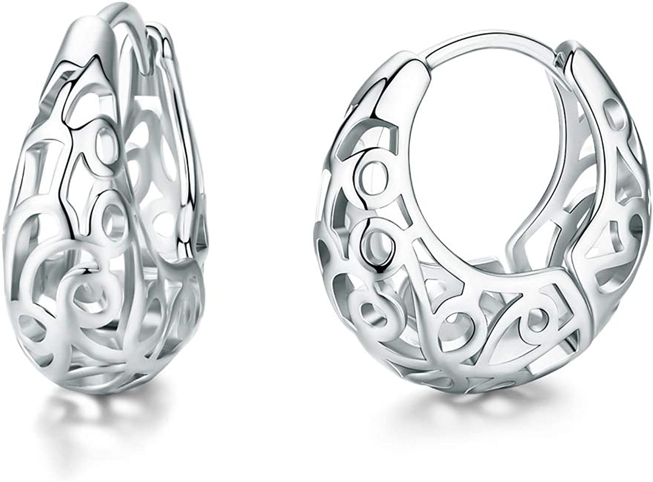 Hoop Earrings Oval...