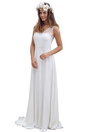 Robe blanche dentelle boheme mariage