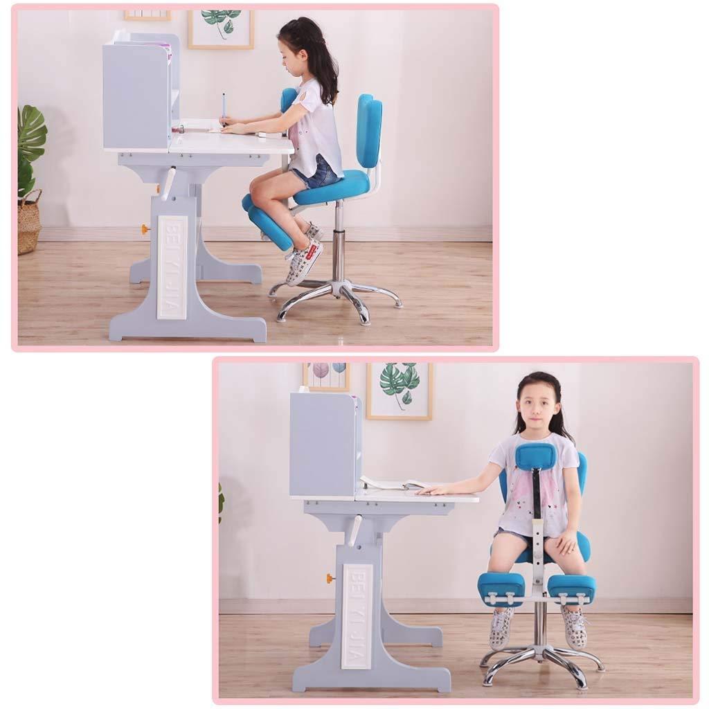 Knästolar ortodontisk ergonomisk stol barns hållningskorrigeringsstol knä med pedaler, knäskydd justerbar 360° gRÖN BLÅ