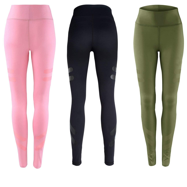 e7ed15df0a5ee Amazon.com: Army Green Sporting Leggings Clothing Fitness Dry Pants High  Waist Workout Fitness Leggings,Green,L: Clothing