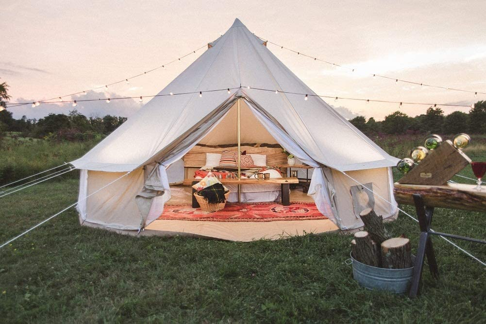 Dream House Outdoor Waterproof Cotton Canvas Family Camping Bell Tent