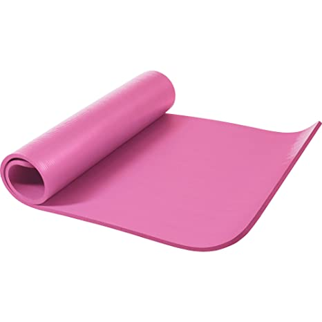 Gorilla Sports Yogamatte In Verschiedenen Farben - Colchoneta de yoga (15 mm, 180-200 cm, deluxe, acolchado, anti deslizante, grueso), color rosa, ...