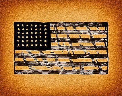 american Americana vintage flag posters