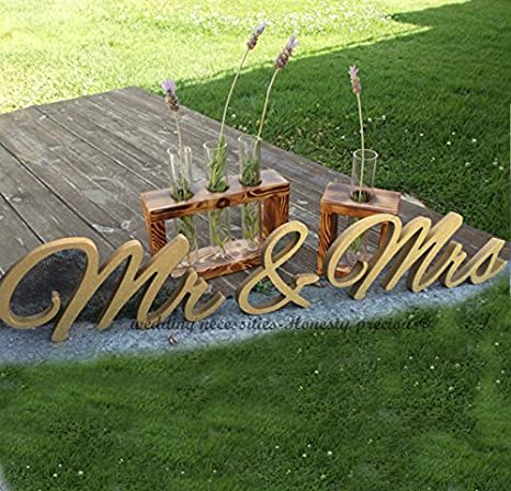 7cm ricevimento di nozze oro glitter Mr e Mrs Segno, Libera installazione Mr e Mrs segni per Sweetheart tavolo, 15 cm