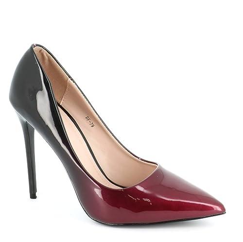 taille 7 en vente en ligne acheter pas cher Escarpin Femme Vernis - Chaussure Escarpin Dégradées Talon Fin - Talon  Aiguille Haut Sexy 11CM Multicolore - Chic Tendance
