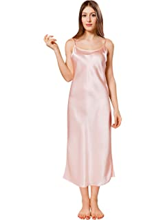 dc2424ae8886 LilySilk Women 22 Momme Full Length Nightgown 100% Pure Silk at ...