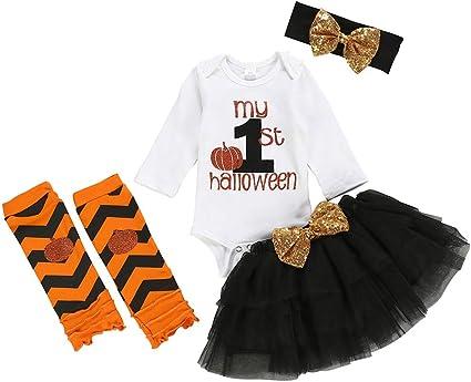 Little Secrets Childrens Clothing Baby Girls 1st Halloween Cat Black Tutu Romper Bow Headband Fancy Dress Newborn Gift