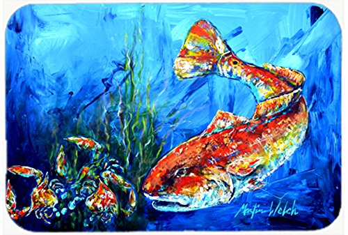 Caroline's Treasures MW1214JCMT Scattered Red Fish Kitchen Or Bath Mat, 24' x 36', Multicolor