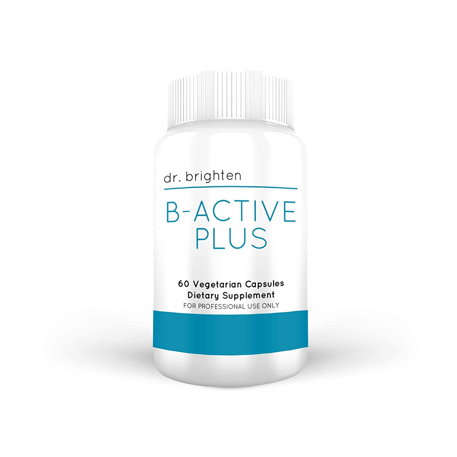 Dr. Brighten B-Active Plus - B Vitamins Dietary Supplement Combination Formula Supplies Most of The Vitamin-B in Their Coenzymated Forms Supports Methylation