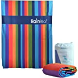 Microfiber Restro Cabana Stripe Towel by Rainleaf.Perfect Beach & Travel Towel. Fast Drying - Antibacterial - Super Absorbent - Ultra Compact.