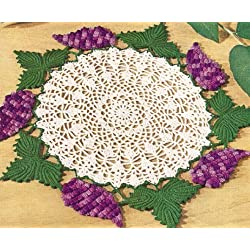 Vintage Crochet PATTERN to make - Grape Cluster Doily Fruit Motif. NOT a finished item. This is a pattern and/or instructions to make the item only.