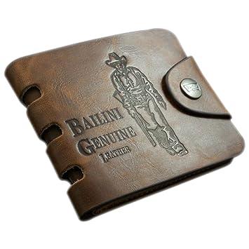 UU. distribución Classic Vintage Balini vaquero/501 de hombre Bifold cartera de piel auténtica (vaquero, corto): Amazon.es: Hogar