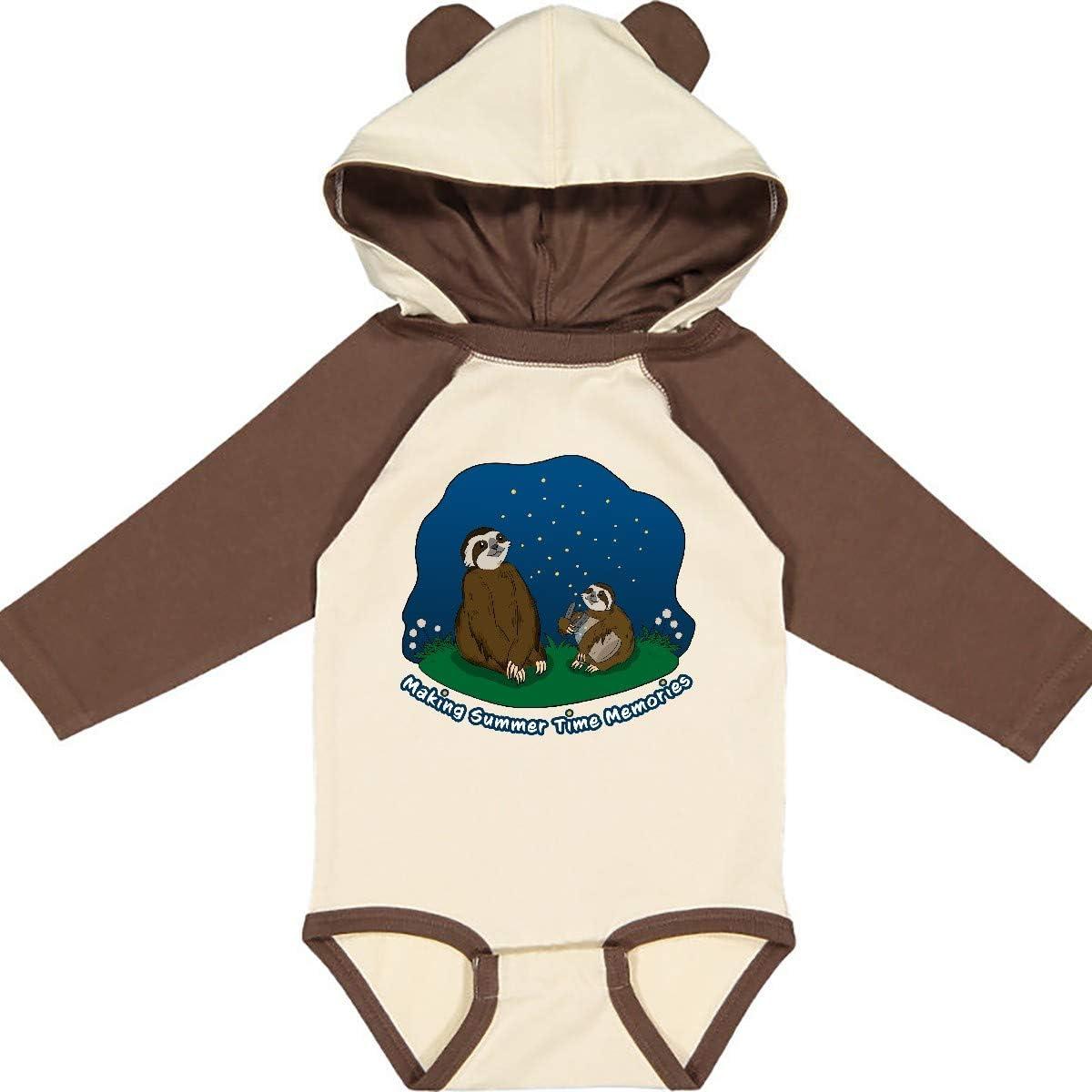inktastic Making Summer Time Memories-Summer Sloths Long Sleeve Creeper