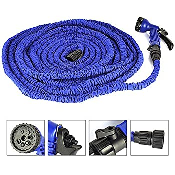 100ft Most Heat Resistant Water Garden Pipe Expandable Hose As Seen On  Tv,blue