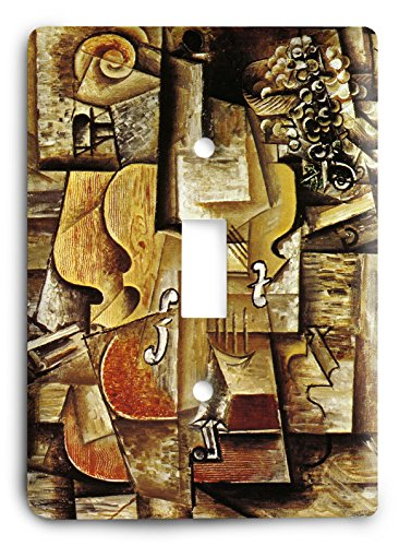 Pablo Picasso - Violin and Grapes 1912 Light Switch Cover