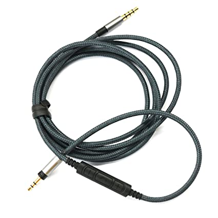 Tutoy Cable De Repuesto Con Mando A Distancia Y Mic Para Sennheiser Impulso Sobre Auriculares En