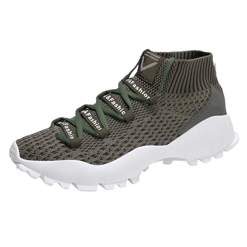 Zapatillas de Hombre de BaZhaHei, Zapatos para Hombres Malla Mosca Tejida Transpirable Zapatos Deportivos có modos Calzado Informal có modo para Hombres Zapatos Deportivos Zapatos Casuales para Hombre
