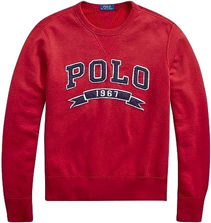 Polo Ralph Lauren Sudadera Vintage Fleece-LSL-knt Rojo (x-Larga ...