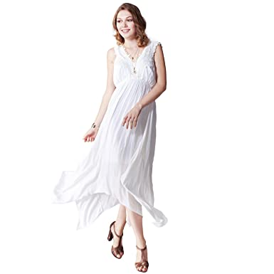 OneWorld Womens Fashion Long Wrap Design Sleeveless Elegant Cocktail Evening Party BeachProm Gown Maxi Dress