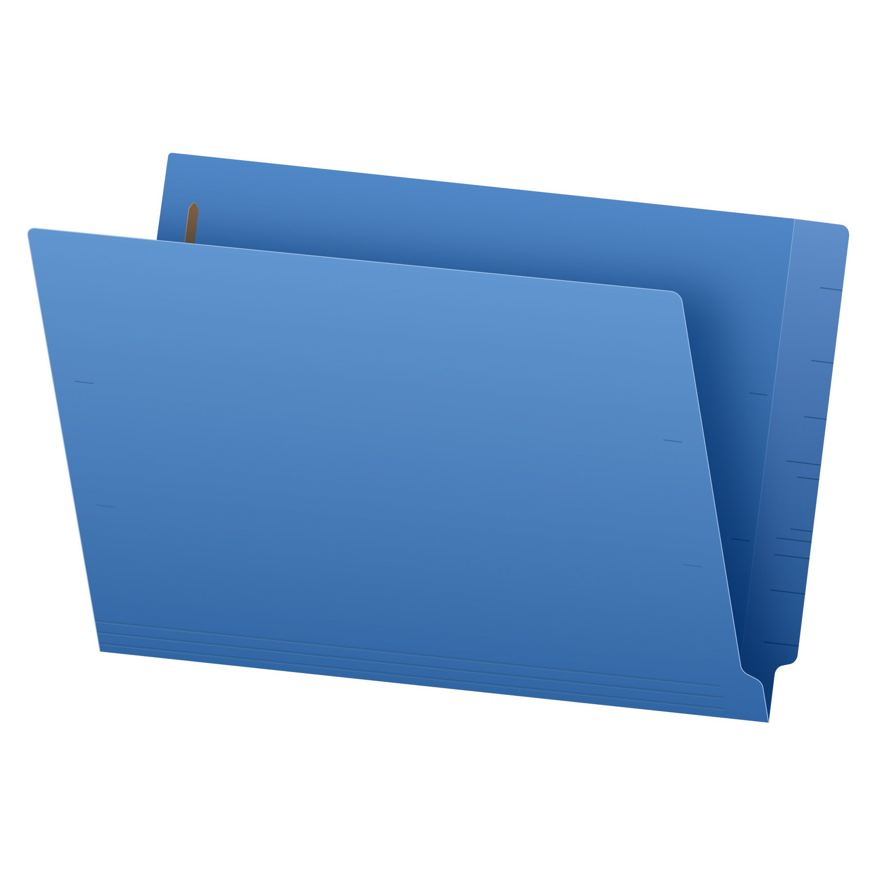 Pendaflex Color End-Tab Fastener Folders, Legal Size, Blue, Straight Cut, 50/BX (48040)