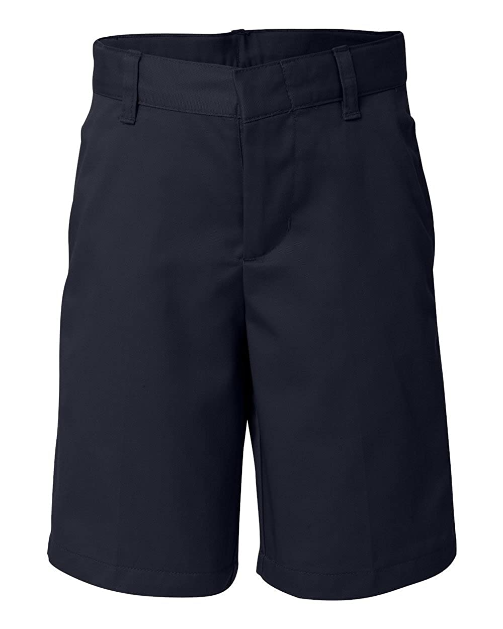 French Toast School Uniform Boys Flat Front Adjustable Waist Shorts, Navy, 14