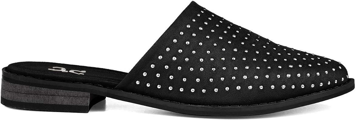 Brinley Co. Womens Studded Almond Toe