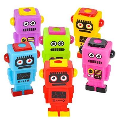 "HAPPY DEALS ~ Mini Robot Buddies 2.75"" - 24 Pack - - Robot Party Toys and Decorations: Toys & Games"