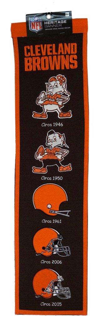 Cleveland Browns NFLウール8 x 32遺産バナー   B01K5UU6VM