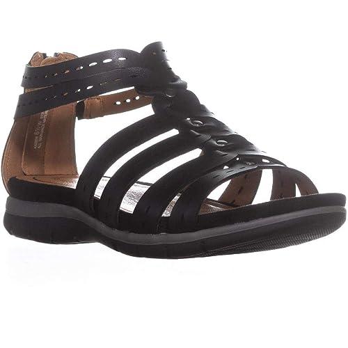 b6527338dbab5 BareTraps Kaiser Strappy Flat Sandals, Black