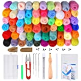 PP OPOUNT 60 Colors Wool Roving Needle Felting