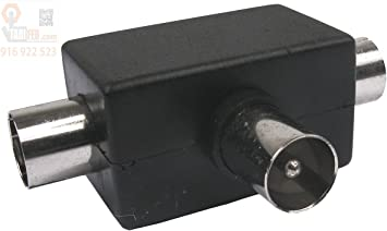 9037R25 - Conector para antena TV triple 1M/2H Axil: Amazon ...
