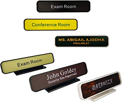 """SIGN PLAQUE PERSONALIZATION OFFICE NAME PLATE FOR OFFICE DESK OR DOOR 2/""""X8/"""""""