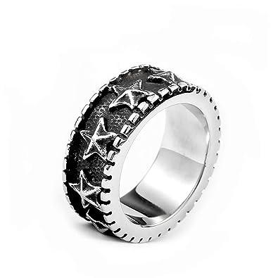 Amazon.com: Beydodo Anillo de titanio para hombre de acero ...
