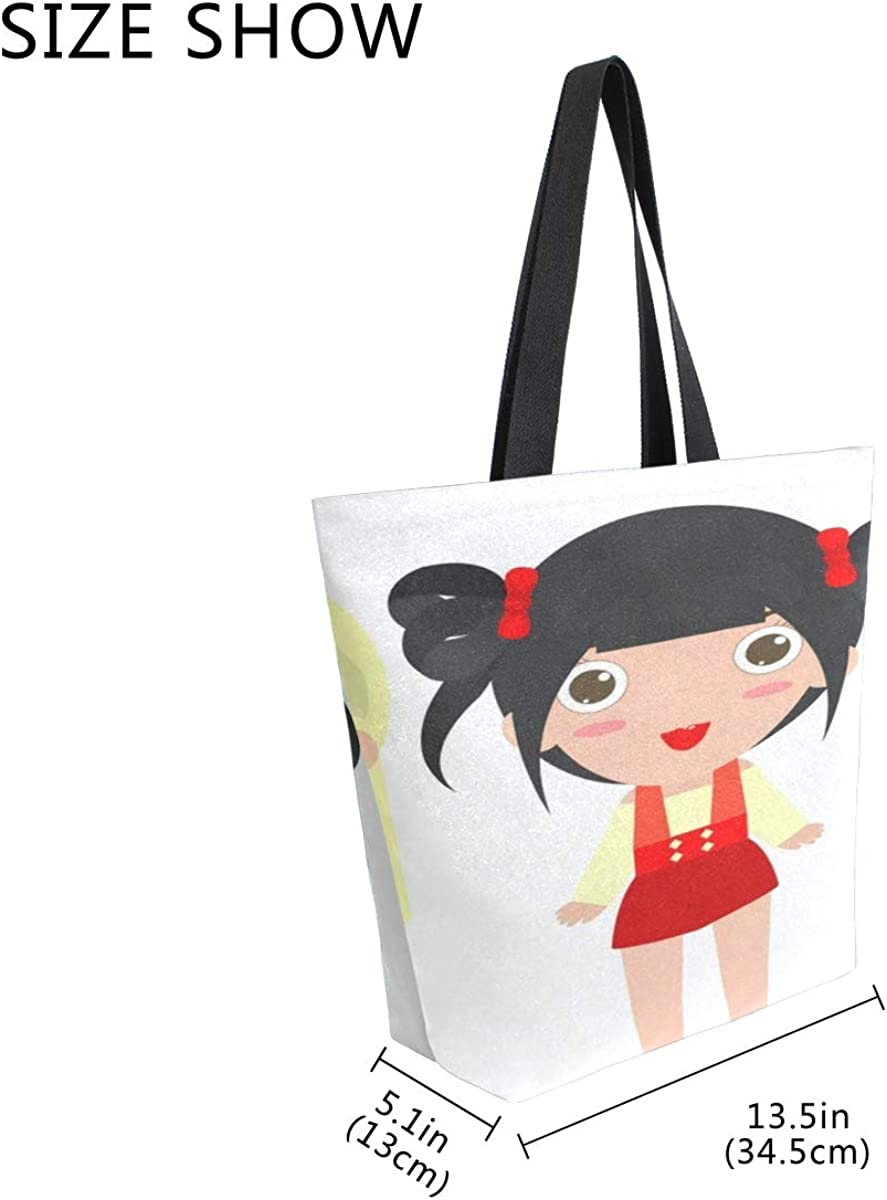 Women Big Shopping Bags Reusable Tote Grocery Bag Shoulder Bags For Young Girl