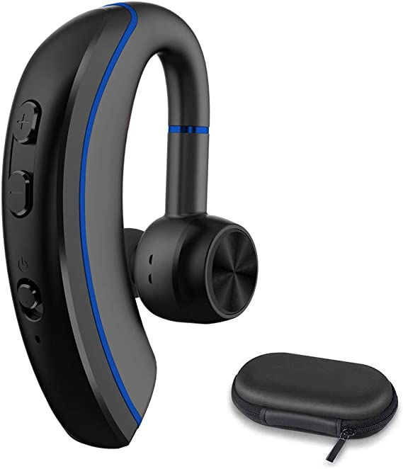 Amazon Com Bluetooth Phone Earpiece Wireless Bluetooth Headset V4 1 With Stereo Noise Canceling Microphone For Cell Phone Laptop Car Skype Call Center Truck Driver