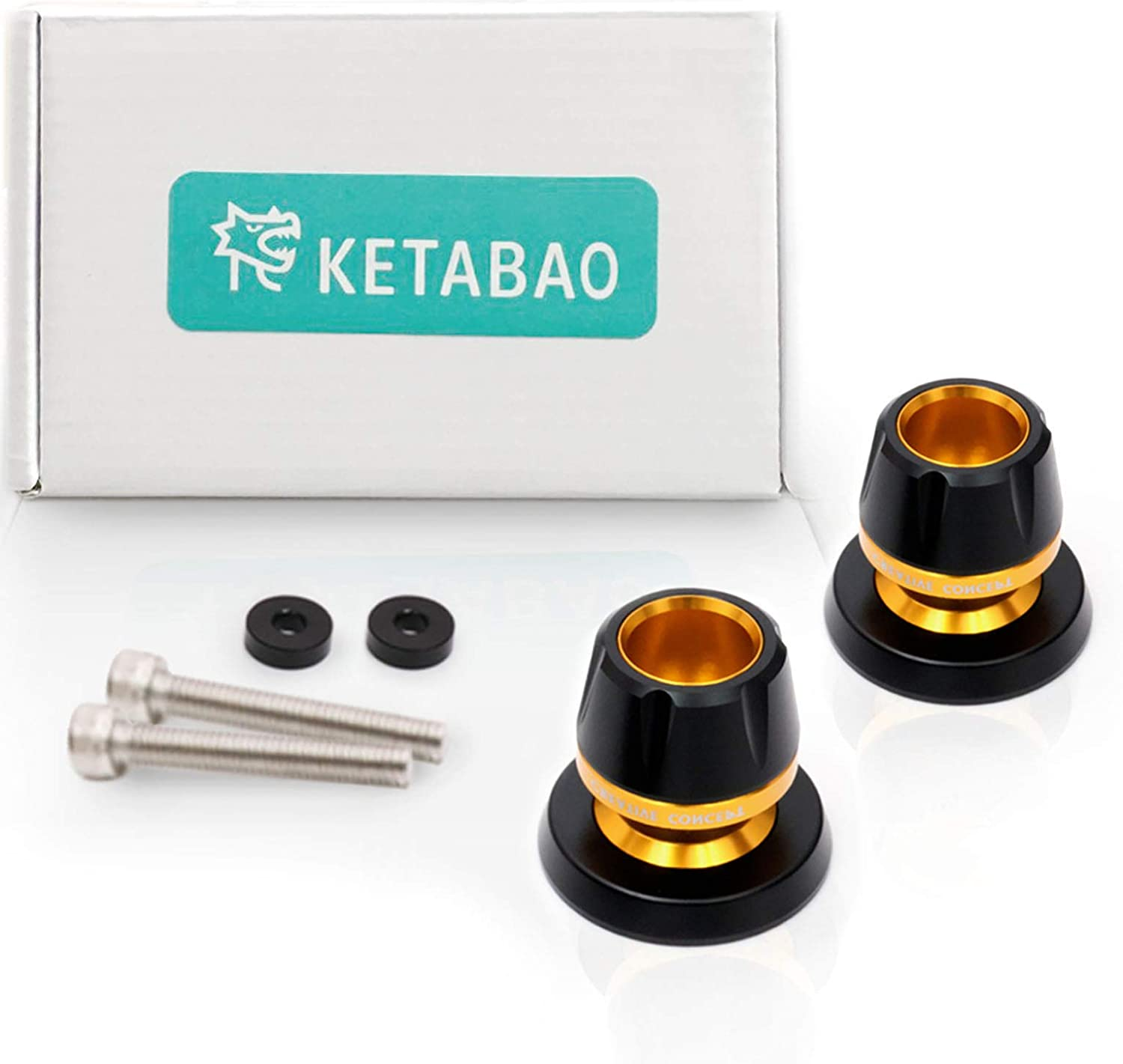 KETABAO Blue M6 Rear Swingarm Stand Spools Protectors For Yamaha MT-09 Tracer 13-17 YZF R3 MT01 05-12 MT03 YZF R6 16 17