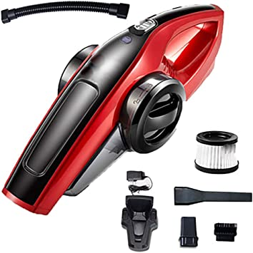 Aspirador de coche 100W 3kpa Húmedo/Seco Batería de litio de alta potencia Aspirador portátil de mano Aspirador de auto Aspirador de coche Colector de polvo: Amazon.es: Coche y moto