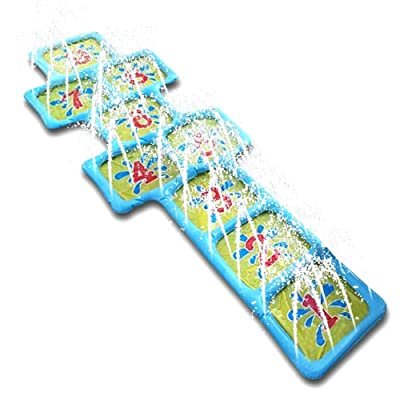 "Sprinkler Mat for Kids, 67"" Outdoor Splash Play Mat Inflatable Sprinkler Pad, Wading and Learning Number Water Toys for Summer Outdoor Games: Home Improvement"