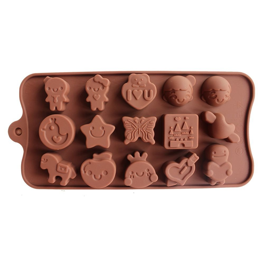Diy Silicone Bakeware Stable 15 Holes Round Silicone Chocolate Mold Jelly Pudding Mold Silicone Ice Cube Baking & Pastry Tools