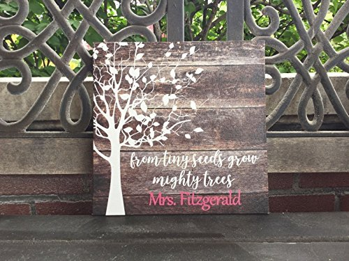 Teacher Personalized Gift Poem, From Tiny Seeds Grow Mighty Trees, Back To School Present, Personalized, FIRST DAY OF SCHOOL, Preschool, Kindergarten