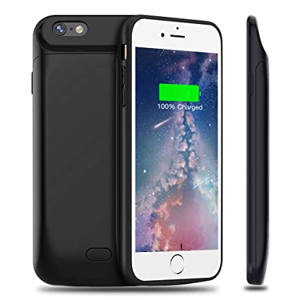 premium selection 43bed 2a835 Battery Charger Case Compatible with iPhone 6S Plus / 6 Plus, 7200mAh  Rechargeable Extended Battery Charging Case, Backup Power Bank  Case,External ...