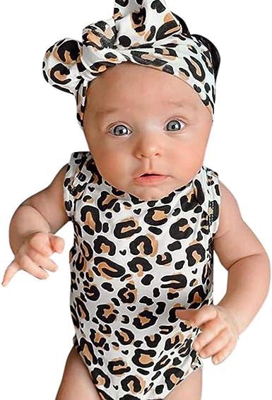 MAYOGO Monos para Bebe Leopardo Mameluco Bebe NiñO sin Manga Ropa ...