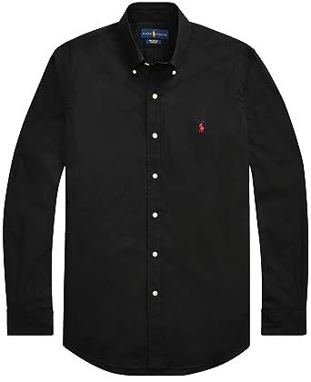 d317a0a1273bad RALPH LAUREN Men's Slim FIT Cotton Twill Button-Down Shirt at Amazon ...