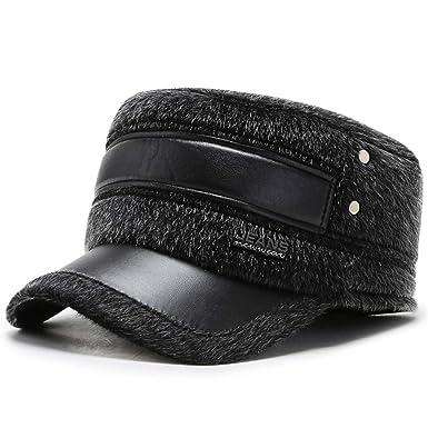 Sombrero de mediana edad para invierno, gorro plano de invierno ...